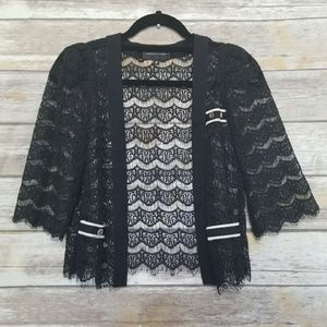 Anthropologie Lace Open Cardigan 6